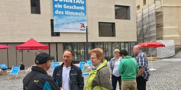 Gewerkschaften, Kirchen und Vereine arbeiten in der Allianz für den freien Sonntag zusammen, um den Sonntag als gemeinsamen freien Tag zu erhalten. Foto: © Holger Lemme