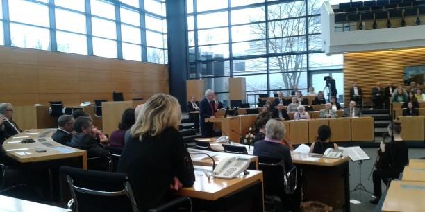 Gedenkstunde im Landtag für die Opfer des Nationalsozialismus. Foto: ©EAT