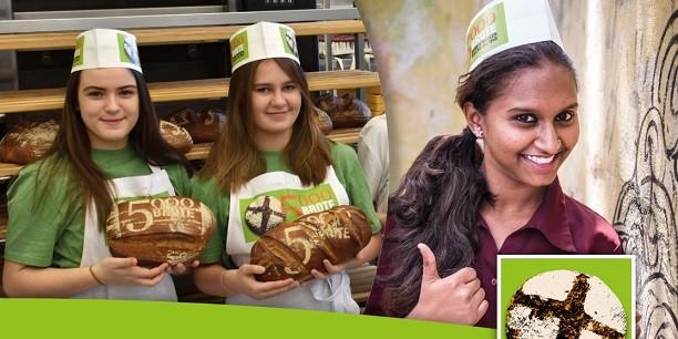 """Die Aktion """"5000 Brote"""" verbindet Konfis mit Jugendlichen in Indien, Äthiopien und Brasilien: Die Spendeneinnahmen helfen, Projekte in diesen Ländern zu unterstützen. Design: © Magascreen.com. Fotos: © Brot für die Welt, ELKB/Minkus"""