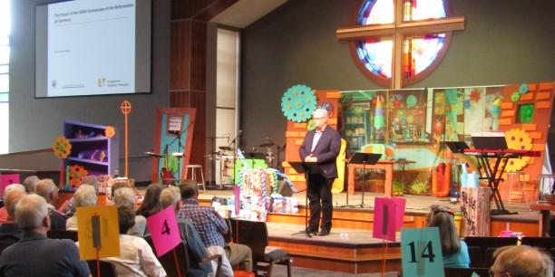 Akademiedirektor Prof. Dr. Michael Haspel besuchte die Cornerstone Church in Indianapolis und hielte dort einen Vortrag. Foto: ©Sven Schumacher
