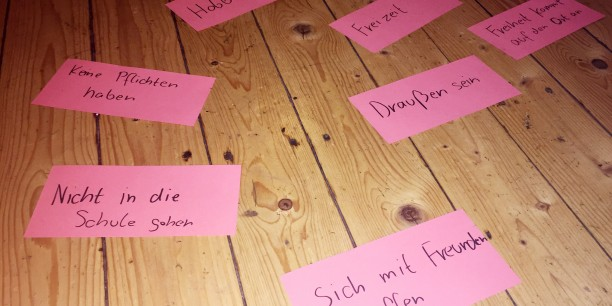 Im Workshop sammelten die Teilnehmenden zunächst Gedanken darüber, was Freiheit für sie bedeutet... Foto: ©Jan Grooten