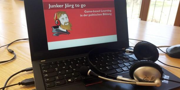 """Zur ersten Veranstaltung der Reihe """"Junker Jörg to go"""" trafen sich die Teilnehmenden online, um sich über Game-based Learning – Lernen durch und am Spiel – auszutauschen. Foto: © EAT"""