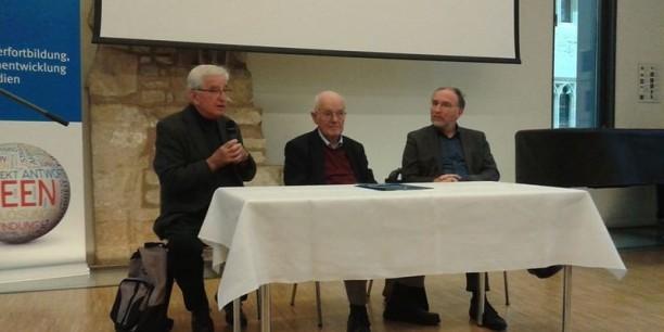 Rückfragerunde mit Prof. Martin Onnasch, Prof. Peter Maser, Prof. Jörg Seiler (v.l.n.r.). Foto: © Kranich/EAT