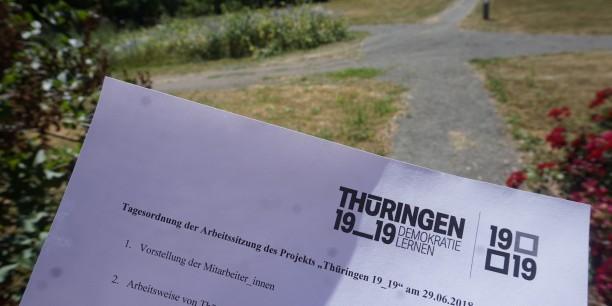 Auf den Weg gebracht: Der Beirat des Netzwerkprojekts Thüringen 19_19 traf sich erstmalig im Zinzendorfhaus. © Annika Schreiter/EAT