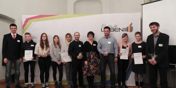 Engagiert für Demokratie im Landkreis Greiz - die Akteure der ausgezeichneten Projekte von Vielfalt leben. Foto: ©Vielfalt leben