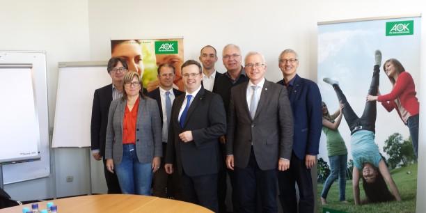 Zum Arbeitstreffen in München: Karl-Ulrich Gscheidle, Renate Fallbrüg, Peter Lysy, Hubertus Räde, Holger Lemme, Thomas Löffler, Stephan Eimterbäumer, Jochen Gerlach (v.l.n.r.).