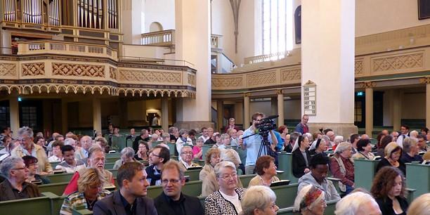 Rund 130 Gäste haben den ersten ökumenischen Handwerker-Gottesdienst in Lutherstadt Wittenberg besucht.