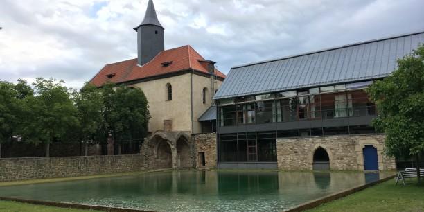 Kloster Volkenroda: Höhepunkt der Pilgertour war die Ankunft im Kloster Volkenroda. Foto: © Holger Lemme