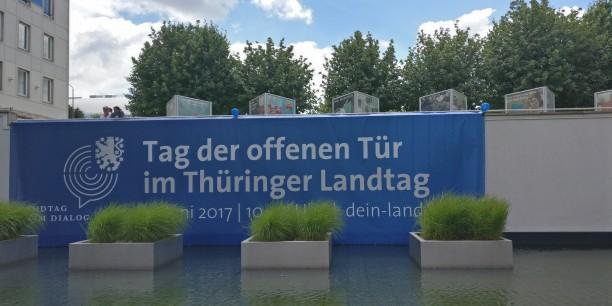 Von 10 bis 17 Uhr öffente der Thüringer Landtag am Samstag, dem 17. Juni 2017 seine Türen. Foto: © Sebastian Tischer