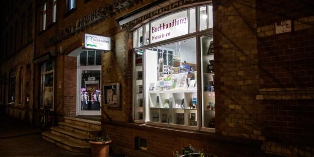 Ort des Geschehens: die Buchhandlung Contineo in Erfurt nach Ladenschluss. Foto: © JM.Mendizza