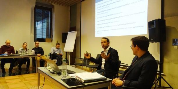 Dr. Christian Demuth, Mitglied des Beirats für den Sachsen-Monitor, berichtete über zentrale Ergebnisse der Studie. Foto: © et