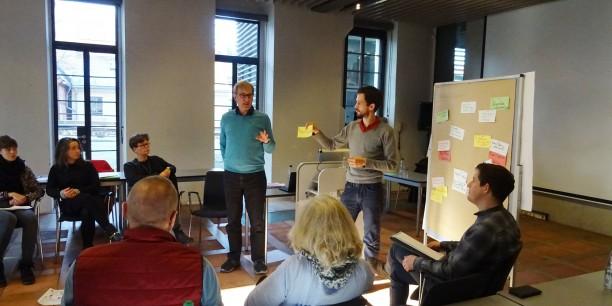 In Projektgruppen wurde die Weiterarbeit an gemeinsamen Netzwerkprojekten innerhalb der Trägergruppe beraten. Foto: © et