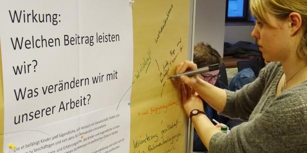 Auch das Selbstverständnis und Leitbild für die gemeinsame Arbeit in der Trägergruppe wurde reflektiert. Foto: © et