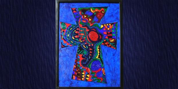 """Kreuz 49, """"Ich bin die Auferstehung und das Leben"""" (80x110) © Andrea Terstappen"""