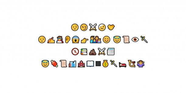 Wie hat dein Charakter die Geschichte erlebt? - Die Antwort gab es im Reflexionsgespräch zunächst in Emojis. Foto: Screenshot aus Zoom-Verantaltung