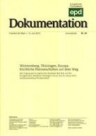 """epd Dokumentation """"Württemberg, Thüringen, Europa"""""""