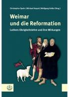 Das Cover des Buches zeigt einen Ausschnitt des Cranach-Altars in der Herderkirche zu Weimar: Christus als Lamm Gottes, Johannes den Täufer, Lucas Cranach d. Älteren sowie Martin Luther (v.links)