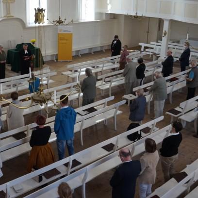 Festgottesdienst am 13. Juni 2021 im Kirchsaal der Brüdergemeine Neudietendorf. Foto: © Zubarik/EAT
