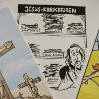 Karikaturen zu Gottesbildern dienten als Anreiz, die eigene Grenze der Kunstfreiheit auf die Probe zu stellen. Foto: © EAT