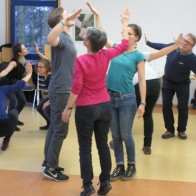 Gruppenübung beim Workshop Forumtheater. Foto: © EAT