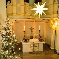 Die Weimarer Jakobskirche zur Weihnachtszeit. Foto: ©Rolf Hofmann.