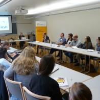 Dr. Iren Schulz von der Universität Erfurt referiert zum Thema Medienkompetenz. Foto: (c) Sebastian Tischer